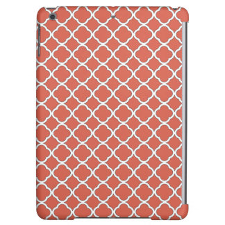 Cute Jelly Bean Orange Quatrefoil Maroccan Pattern iPad Air Cover