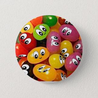 Cute Jelly Bean Smileys 6 Cm Round Badge