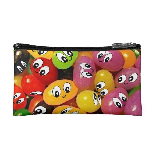 Cute Jelly Bean Smileys Cosmetic Bag