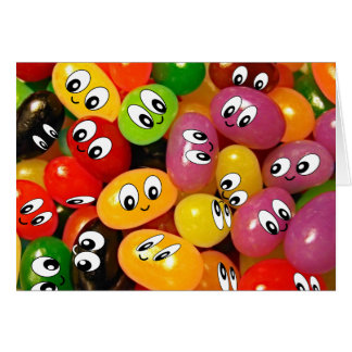 Cute Jelly Bean Smileys Card