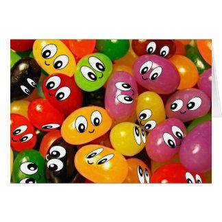 Cute Jelly Bean Smileys Greeting Card