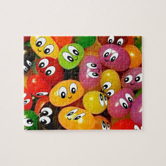 Cute Jelly Bean Smileys Jigsaw Puzzle