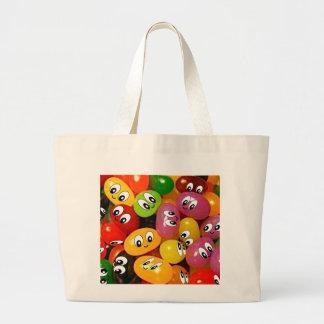 Cute Jelly Bean Smileys Jumbo Tote Bag