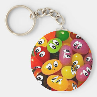 Cute Jelly Bean Smileys Key Ring
