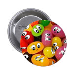 Cute Jelly Bean Smileys Pinback Buttons