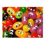 Cute Jelly Bean Smileys Post Card