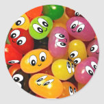 Cute Jelly Bean Smileys Stickers