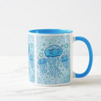 Cute Jellyfish and Bubbles mug