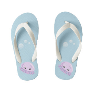 Cute Jellyfish Flip Flops, Kids Kid's Flip Flops