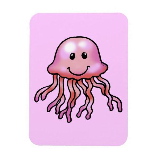 Cute jellyfish rectangular magnet