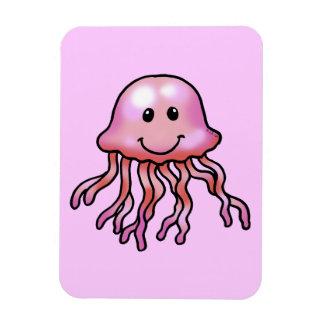 Cute jellyfish rectangular photo magnet