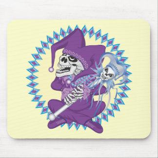 Cute Jester Skull Mouse Pad