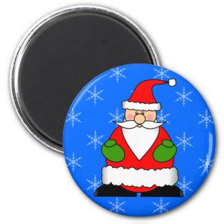 Cute Jolly Santa Holiday Cartoon 6 Cm Round Magnet