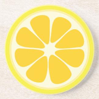 Cute Juicy Citrus Lemon Tropical Fruit Slice Coaster