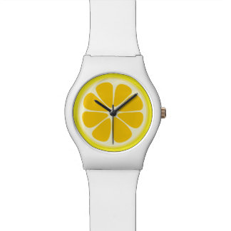 Cute Juicy Citrus Lemon Tropical Fruit Slice Watch