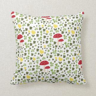 Cute jump floral pattern throw pillow