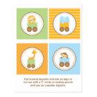 Cute Jungle Animal Train Cupcake Toppers Postcard
