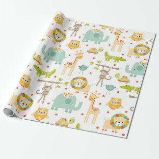 Cute Jungle Animal Wrapping Paper