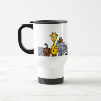 CUTE JUNGLE ANIMALS ADD YOUR TEXT TRAVEL MUG