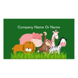 Cute Jungle Animals Pack Of Standard Business Cards