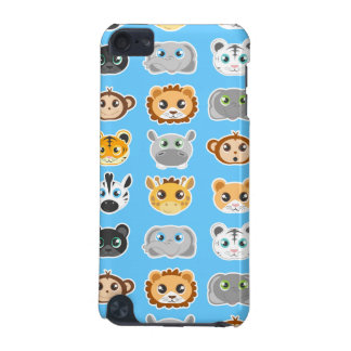 Cute Jungle Animals Pattern Blue iPod Touch 5G Cover