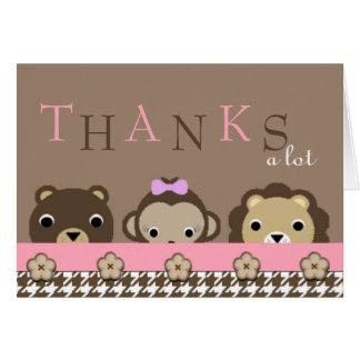 Cute Jungle Animals Thank You Card