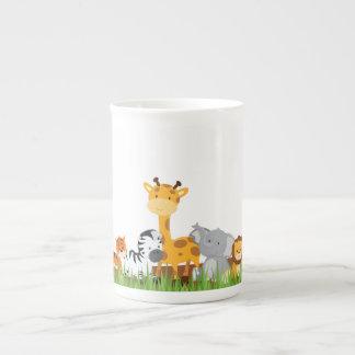 Cute Jungle Baby Animals Bone China Mug