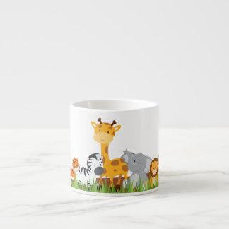 Cute Jungle Baby Animals Espresso Mug