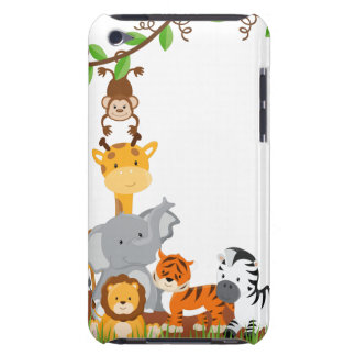 Cute Jungle Baby Animals iPod Touch 4G Case Mate Barely There iPod Cases