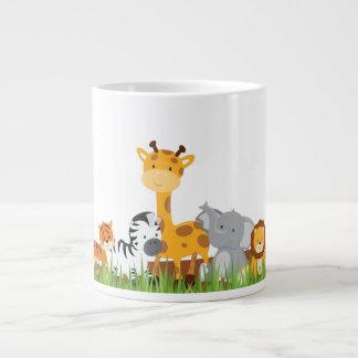 Cute Jungle Baby Animals Jumbo Mug
