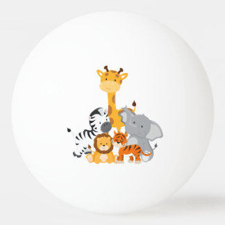 Cute Jungle Baby Animals Ping Pong Ball