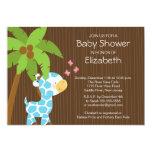 "Cute Jungle Giraffe Boy Baby Shower Invitation 5"" X 7"" Invitation Card"