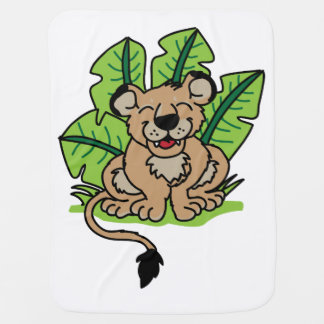 Cute Jungle Lion Cub Blanket