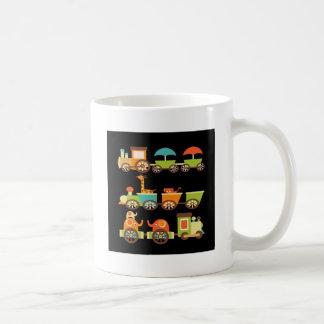 Cute Jungle Safari Animals Train Gifts Kids Baby Basic White Mug
