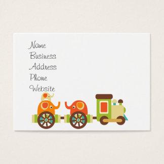 Cute Jungle Safari Animals Train Gifts Kids Baby Business Card