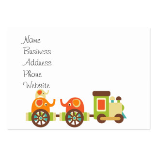 Cute Jungle Safari Animals Train Gifts Kids Baby Business Card Templates