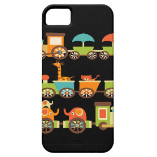 Cute Jungle Safari Animals Train Gifts Kids Baby iPhone 5 Cases