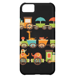 Cute Jungle Safari Animals Train Gifts Kids Baby iPhone 5C Case