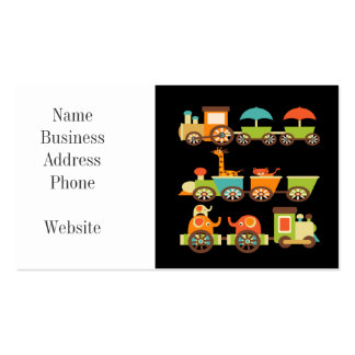 Cute Jungle Safari Animals Train Gifts Kids Baby Pack Of Standard Business Cards