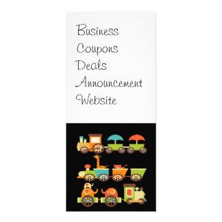 Cute Jungle Safari Animals Train Gifts Kids Baby Full Color Rack Card