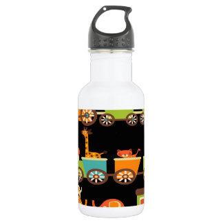 Cute Jungle Safari Animals Train Kids Baby 532 Ml Water Bottle