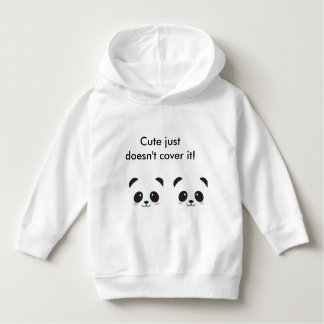'Cute just doesn't cover it' panda hoodie