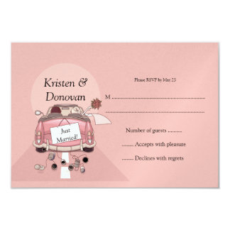 Cute Just Married RSVP Card