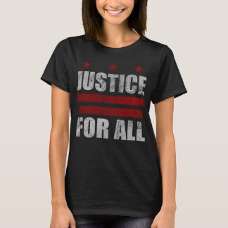 Cute Justice For All Washington D.C. Flag T-Shirt
