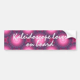 Cute kaleidoscope lover on board bumper sticker