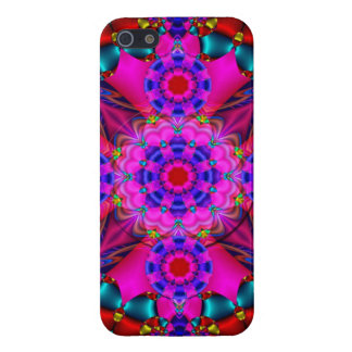 Cute Kaleidoscope with hearts and flowers Case For iPhone 5/5S