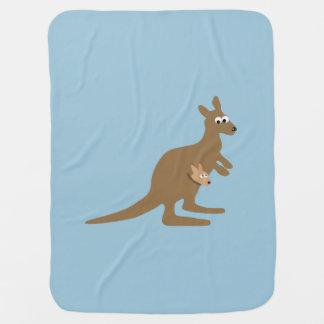 Cute Kangaroo and Joey Baby Blanket