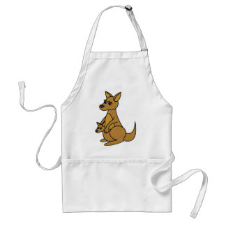 Cute Kangaroo and Joey Standard Apron