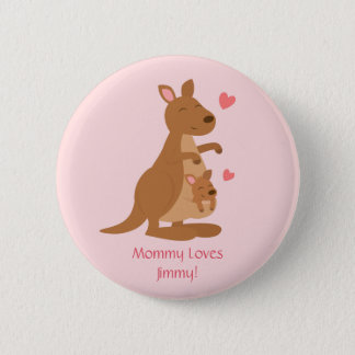 Cute Kangaroo Baby Joey For Kids 6 Cm Round Badge