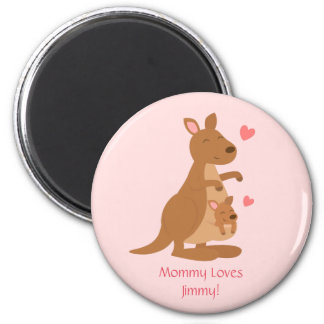 Cute Kangaroo Baby Joey Kids Personalized Magnet